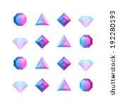 vector graphic gem... | Shutterstock .eps vector #192280193