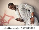 young black man checking... | Shutterstock . vector #192288323