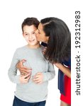 mother and son posing | Shutterstock . vector #192312983