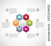 abstract hexagon illustration... | Shutterstock .eps vector #192314903