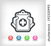 medical records icon | Shutterstock .eps vector #192320993