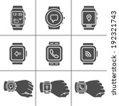 smart watch icons. vector...