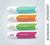 vector steps  progress banners... | Shutterstock .eps vector #192332207