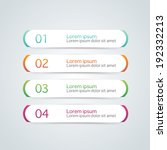 vector steps  progress banners... | Shutterstock .eps vector #192332213