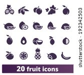 fruit and berry icons  vector... | Shutterstock .eps vector #192342503