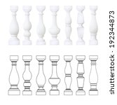 isolated balustrade   set of... | Shutterstock .eps vector #192344873
