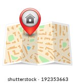 vector city map with label pin... | Shutterstock .eps vector #192353663