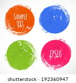 bright grunge circles with... | Shutterstock .eps vector #192360947