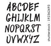 black marker font | Shutterstock .eps vector #192362693