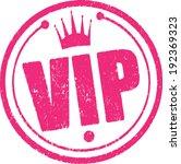 rubber stamp vip. | Shutterstock .eps vector #192369323