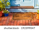welcome mat outside a cottage... | Shutterstock . vector #192399047