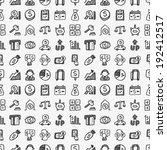 seamless doodle financial... | Shutterstock .eps vector #192412517