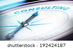 compass with needle pointing... | Shutterstock . vector #192424187
