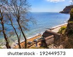 overlooking old shanklin on the ... | Shutterstock . vector #192449573