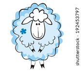Sheep On A White Background....