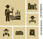farmer man  | Shutterstock .eps vector #192458093