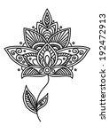 ornate delicate vintage style... | Shutterstock .eps vector #192472913
