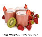 smoothies of kiwi and...   Shutterstock . vector #192482897
