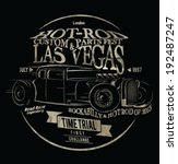 vector old school hot rod race... | Shutterstock .eps vector #192487247