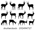 set vector silhouettes of... | Shutterstock .eps vector #192494717