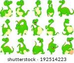 various dinosaur cartoon   Shutterstock .eps vector #192514223