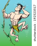 tarzan swinging on a vine...