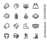 Simple Set of Boxing and fighting Related Vector Icons For Your Design