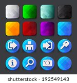 blue web icons collection.... | Shutterstock .eps vector #192549143