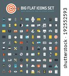 flat icons big set of business... | Shutterstock .eps vector #192552593