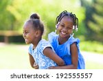 outdoor  portrait of a cute... | Shutterstock . vector #192555557