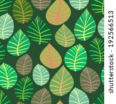 seamless. the leaves and... | Shutterstock . vector #192566513