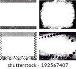 set of grunge frames | Shutterstock .eps vector #192567407