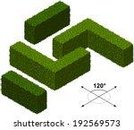 hedge. isometric trees in vector | Shutterstock .eps vector #192569573