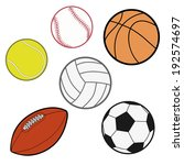 sports balls   baseball ... | Shutterstock .eps vector #192574697