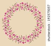 painted watercolor wreath of...   Shutterstock . vector #192575057