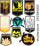 Set Of Vector Cave Emblems On...