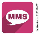 mms flat icon | Shutterstock . vector #192597887
