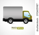 transport design over white... | Shutterstock .eps vector #192605987
