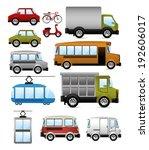 transport design over white... | Shutterstock .eps vector #192606017