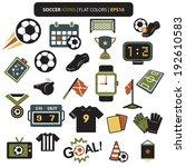soccer icons retro colors set... | Shutterstock .eps vector #192610583