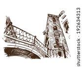 venice hand drawn  vector... | Shutterstock .eps vector #192634313