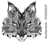 fox head tattoo. psychedelic | Shutterstock .eps vector #192650237