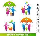 vector set of family icons.... | Shutterstock .eps vector #192667997