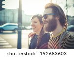 young modern stylish couple... | Shutterstock . vector #192683603