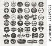 vector retro surf label set. | Shutterstock .eps vector #192697373