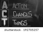 action changes things concept | Shutterstock . vector #192705257