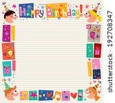 happy birthday kids decorative... | Shutterstock .eps vector #192708347