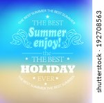 elements for summer holidays... | Shutterstock .eps vector #192708563