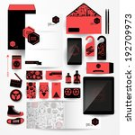 abstract  business set in... | Shutterstock .eps vector #192709973