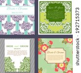 wedding invitation cards with... | Shutterstock . vector #192715373